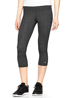 GapFit gFast heathered capris - charcoal heather